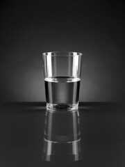 [Free Images] Objects, Tablewares, Glasswares, Black and White, Reflect ID:201301240800
