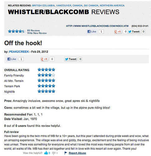 WHISTLER REVIEW