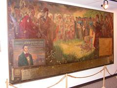 Mural for US Senator Dr. Louis Fields Linn of Missouri, who helped engineer the Platte Purchase