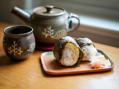 Onigiri and namasu