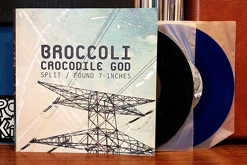 "Broccoli - Found & Crocodile God Split - Double 7"" Pack (/50) by Tim PopKid"