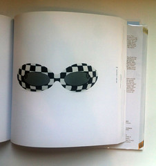Acetatae op-art sunglasses, France, c. 1965