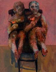 <strong>NIYAZ NAJAFOV | DANCING ON BONES - </strong> On a Chair<br />Oil on canvas, 146 x 114 cm, 2012