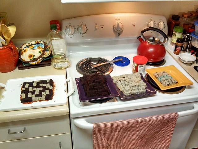Organized cake station