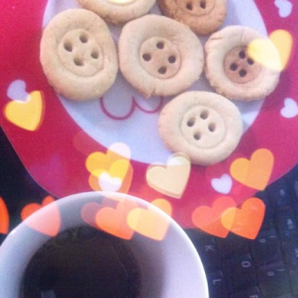 Café i galetes button! Huuum...