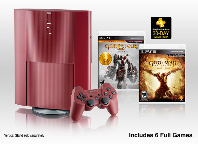 God of War: Ascension Legacy Bundle Includes Garnet Red PS3