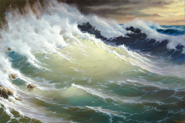 The wave, sunlit - George Dmitriev