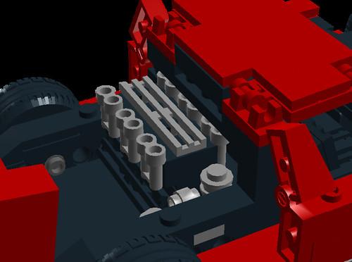 Lamborghini Miura P400SV engine