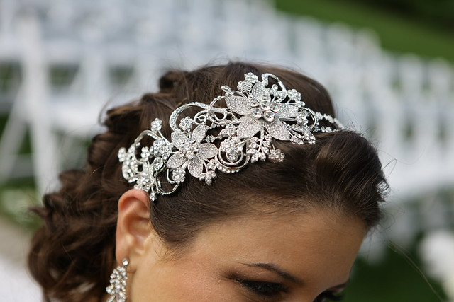 engagement party hair accessory, custom bridal headband, Swarovski bridal headpiece