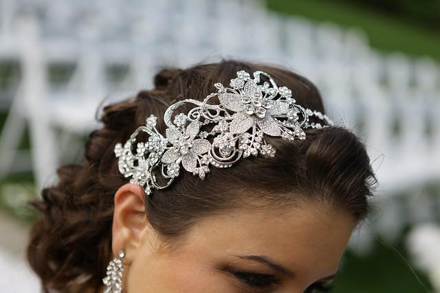 engagement party hair accessory, custom bridal headband, Swarovski bridal headpiece