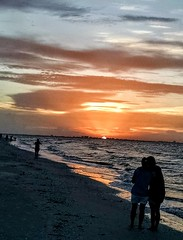 Sunrise while on morning jog Sanibel island