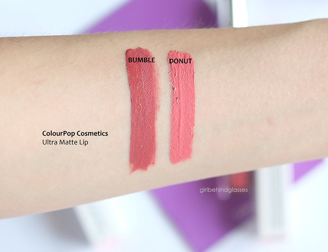 ColourPop Ultra Matte Lip Bumble Donut swatch
