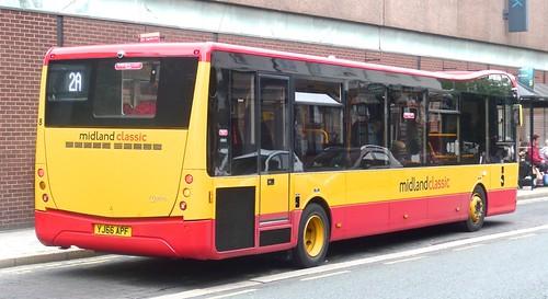 YJ66 APF 'Midland Classic' 8 Optare Metrocity on 'Dennis Basford's railsroadsrunways.blogspot.co.uk'