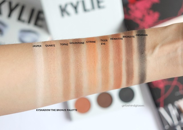 Kylie Cosmetics KYShadow The Bronze Palette swatches