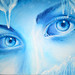 The cold eyes of winter oil on canvas painting - Privirea rece a iernii pictura ulei pe panza