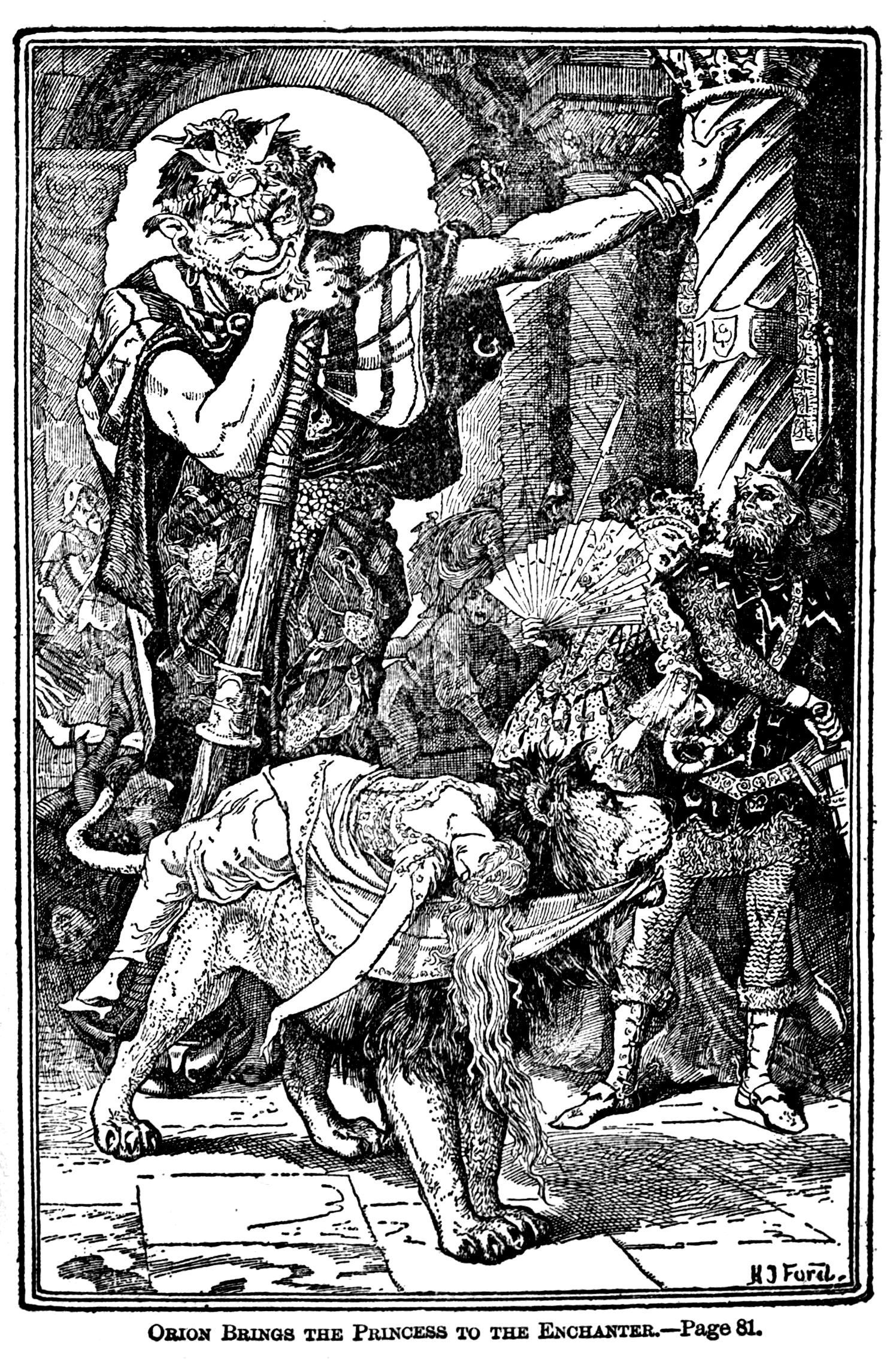 Henry Justice Ford - The green fairy book, edited by Andrew Lang, 1900 (illustration 2)