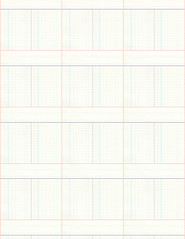 8b LIGHT ledger paper SMALL SCALE - standard or letter size 350dpi