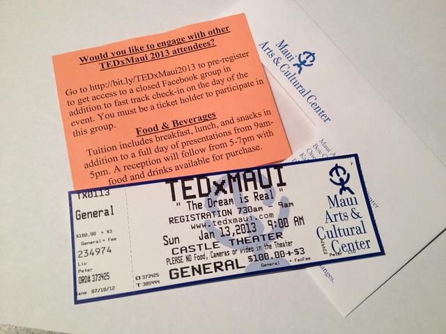TEDxMaui 2013 Ticket