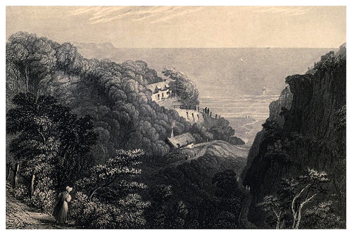 008-Vista de Shaklin Chine- Barber's picturesque guide to the Isle of Wight (1850)
