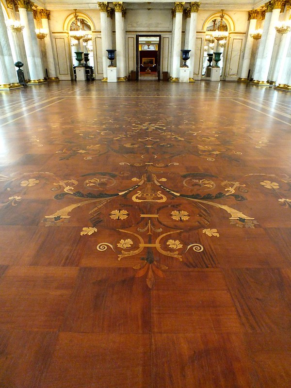 Large Parquetry Work at Winter Palace, St. Petersburg