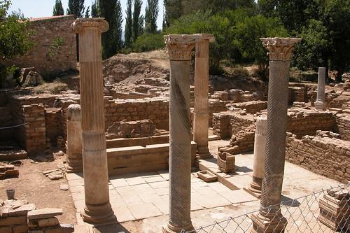 Los baños y termas eran comunes por toda la ciudad. La calidad de vida de Afrodisias era de las más altas de Grecia y posteriormente del imperio Romano.