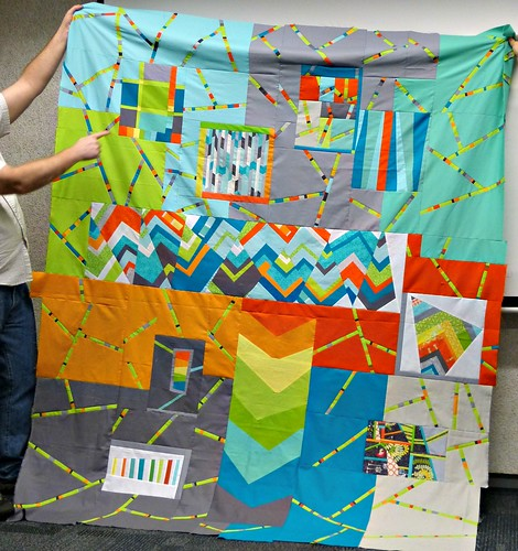 QuiltCon Charity Quilt top by Paul