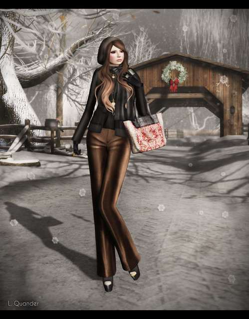 Baiastice_Emma Jacket with top-black & Milano Trousers - Brown