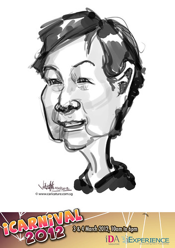 digital live caricature for iCarnival 2012  (IDA) - Day 1 - 47