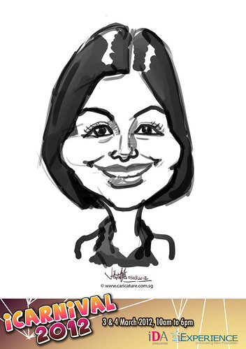 digital live caricature for iCarnival 2012  (IDA) - Day 1 - 93