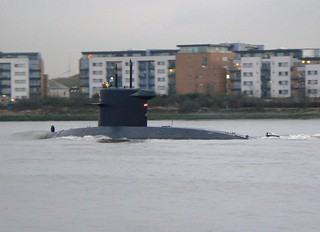 HNLMS Bruinvis S810 @ Gallions Reach 21-12-12