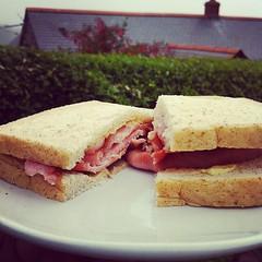 meal(0.0), produce(0.0), breakfast sandwich(0.0), sandwich(1.0), lunch(1.0), breakfast(1.0), ham and cheese sandwich(1.0), meat(1.0), food(1.0), dish(1.0), cuisine(1.0),