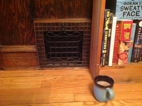 In the morning, I like sitting directly in front of this heating vent in our dining room.