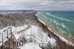 """Inspiration Point""  Bluff overlooking Lake Michigan and the little town of Arcadia, Michigan by Michigan Nut"