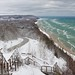 """Inspiration Point""  Bluff overlooking Lake Michigan and the little town of Arcadia, Michigan"