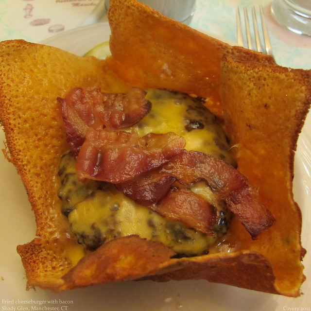Fried cheeseburger and bacon