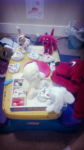Lil's buddies are having a birthday party.