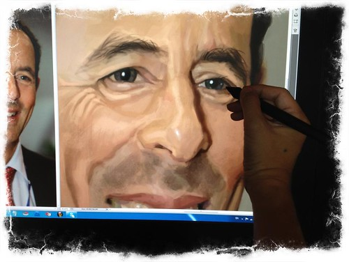 digital caricature of Gido van Praag for Hewlett Packard - 4