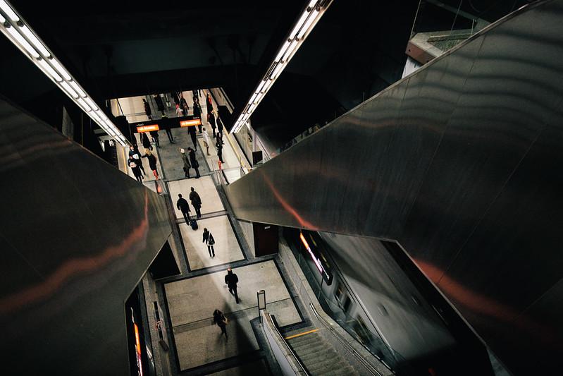 Underground in Vienna.