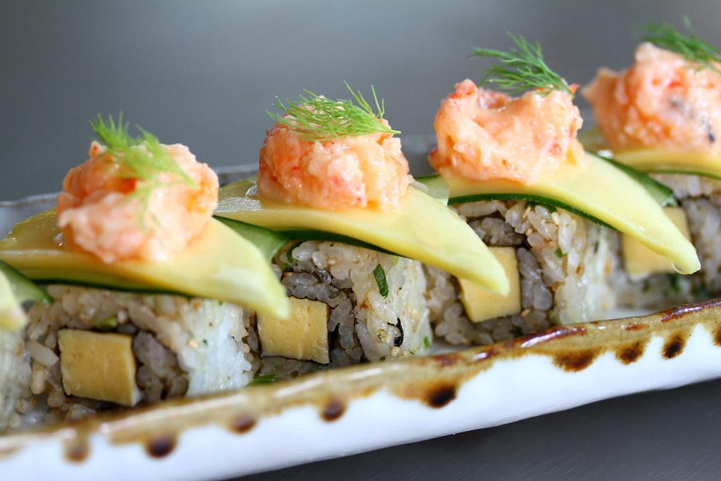 寿司航空寿司吧芒果卷