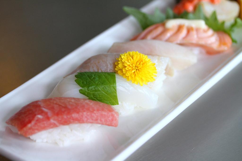 Sushi Airways Sushi Bar's variety of sushi