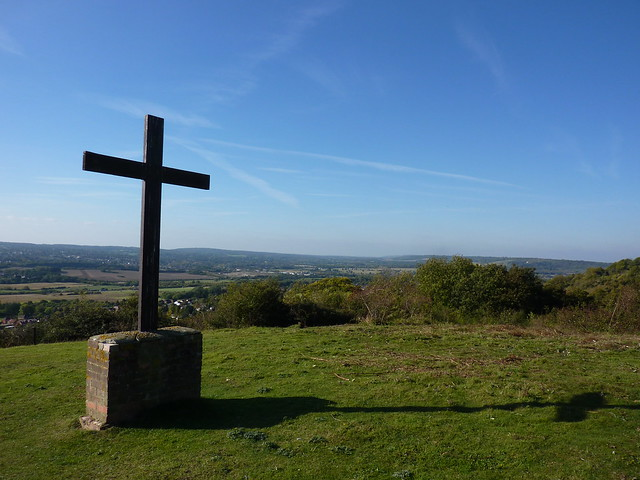 Hillside cross near Kemsing