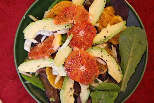 Blood Orange, Avocado, and Shallot Salad