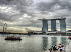 Marina Bay Singapore from the Merlion Park