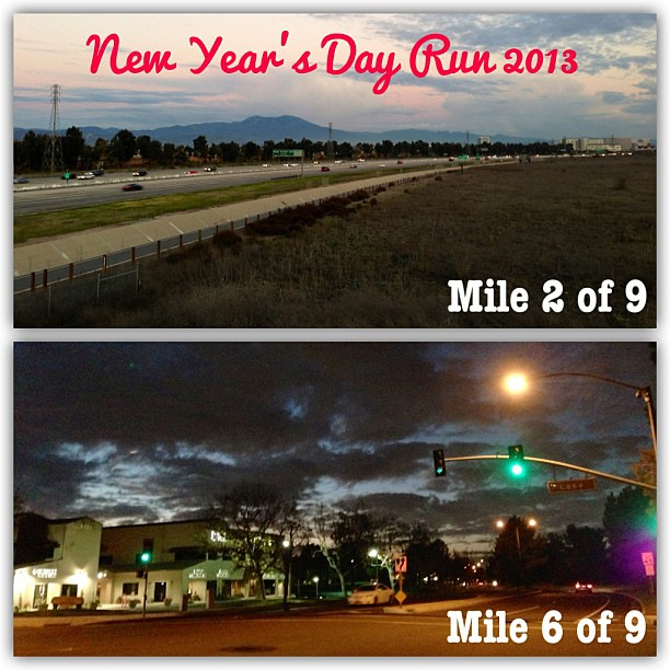 New Year's Run done! I got to 9 miles & then husband called me to ask where I was. I was only supposed to do 3 miles tonight. #runchat