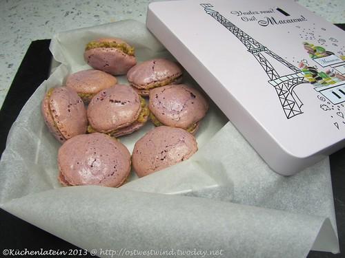 Macarons mit Pistazienfüllung