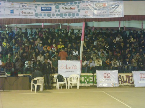 sponsors and crowd