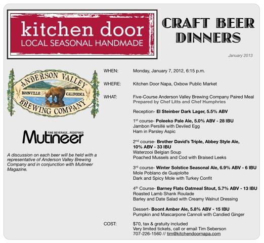 Kitchen Door / Anderson Valley Brewing Company