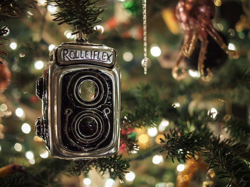 TLR camera ornament