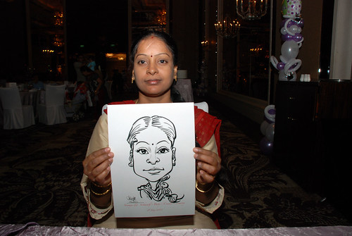 caricature live sketching for baby cradle - 5