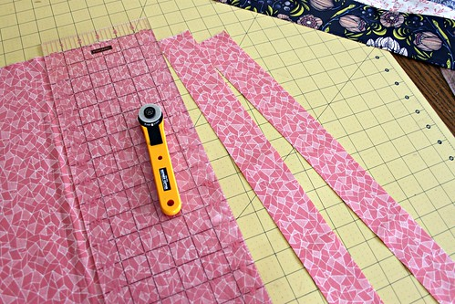 16. cut 2 inch strips for the sides or 8 inch for a larger valance